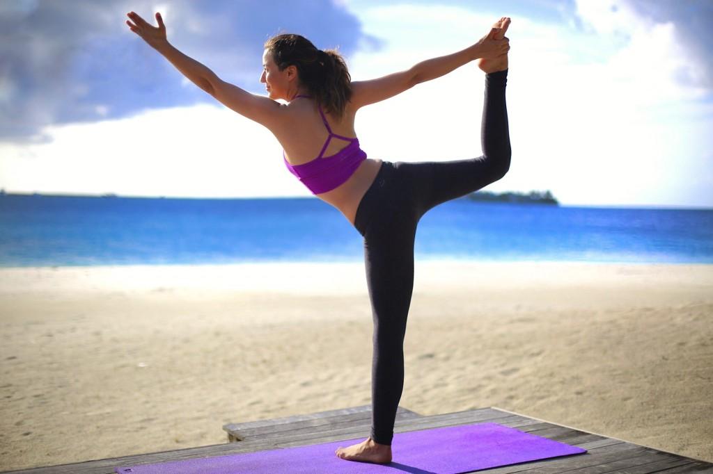 Beach Yoga at Conrad Maldives